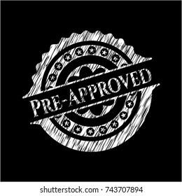 Pre-Approved chalkboard emblem