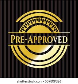 Pre-Approved golden emblem or badge