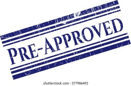 Pre-Approved grunge stamp