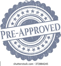 Pre-Approved rubber grunge stamp