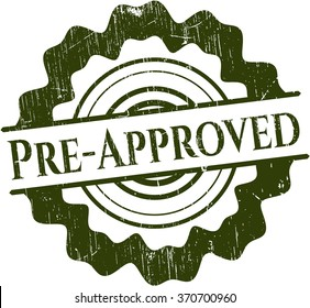 Pre-Approved rubber stamp