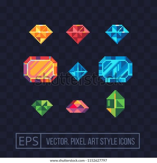 Image Vectorielle De Stock De Jeu De Pixels En Pierre