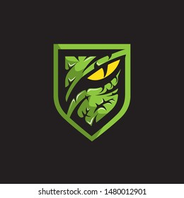 Predator or Raptor eye logo. vector illustration.