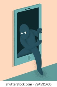 Predators concept illustration. Burglar Window vector design
