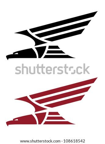 Predatory Eagle Tattoo Design Stock Vector (Royalty Free