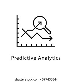 Predictive Analytics Vector Line Icon