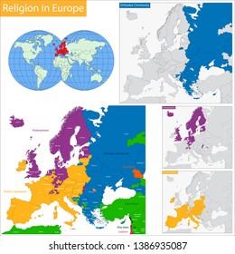 Predominant religious heritages in Europe