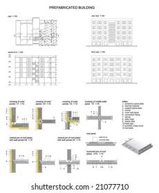 Prefabricated concrete building
