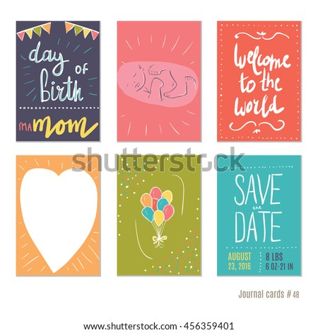 Pregnancy day birth vector design templates stock vector royalty pregnancy day of birth vector design templates for journal cards scrapbooking cards greeting m4hsunfo