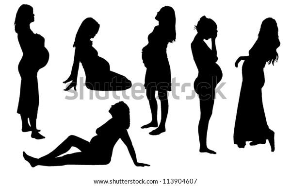 Silhouette woman kneel praying imploring — Stock Photo