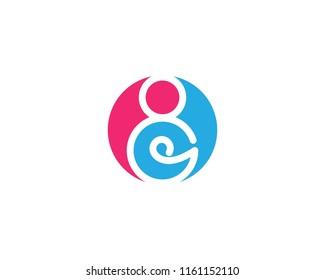 pregnant women logo vector icon template