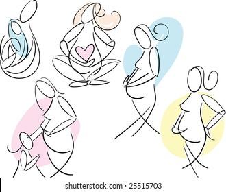 Pregnant Women Sketches