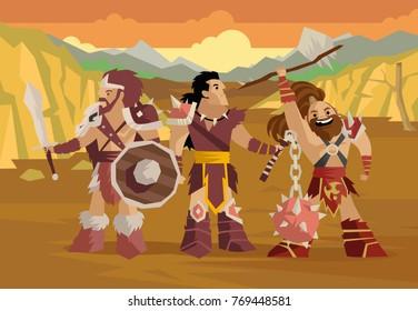 prehistoric barbarian warriors horde