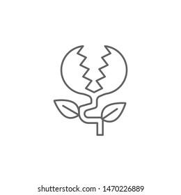 Prehistoric carnivorous plant icon. Element of prehistoric line icon