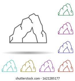 Prehistoric cave in multi color style icon. Simple thin line, outline vector of prehistoric icons for ui and ux, website or mobile application
