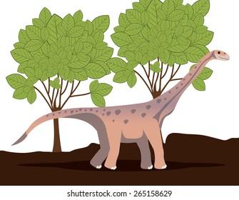 Prehistoric design over landscape background,vector illustration
