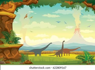 Dino Landscape Border Free Download bull Playapk co