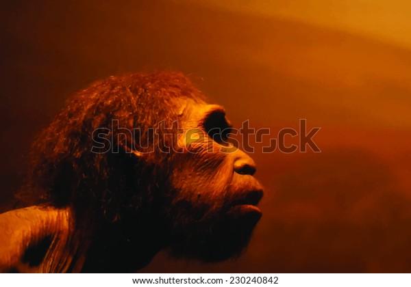 portrait d'homme préhistorique