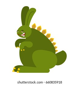 Prehistoric rabbit dinosaur. Dino Bunny. Raptor hare Monster
