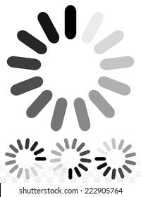 Preloader or buffering symbol.