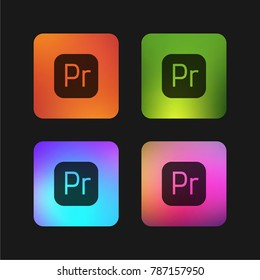 Premiere four color gradient app icon design