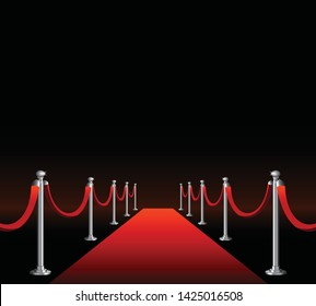 Premiere luxury event red carpet with place for text copy sapce