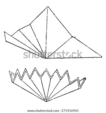 premiere way fold filter paper vintage stock vector royalty free