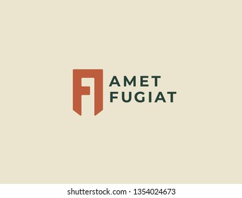 Premium AF or FA letters logo design. Creative elegant curve vector logotype. Luxury linear creative monogram. Combined letters A and F.