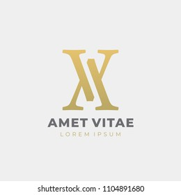 Premium AV or VA letters logo design. Creative elegant curve vector logotype. Luxury linear creative monogram. Combined letters A and V.