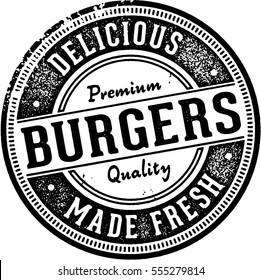 Premium Burgers Vintage Sign/Stamp