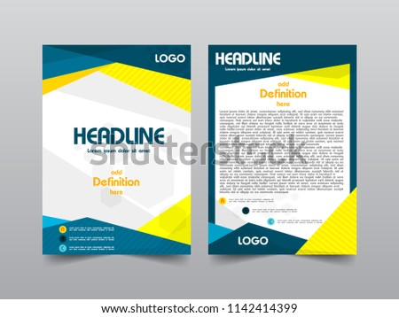Premium Business Brochure Template Space Text Stock Vector Royalty