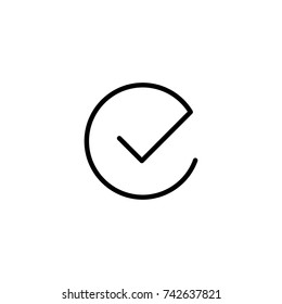 Premium check icon or logo in line style. High quality sign and symbol on a white background. Vector outline pictogram for infographic, web design and app development.