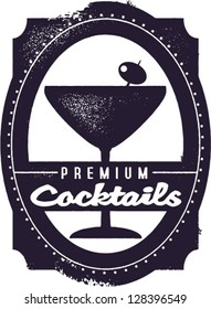 Premium Cocktails Vintage Graphic