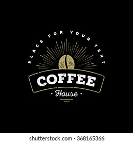 Premium Coffee Label, Coffee Badge, Coffee Emblem. Sign for Restaurant, Cafe, Shop. Vector illustration.
