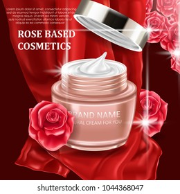 Premium cosmetic product for best care with roses
