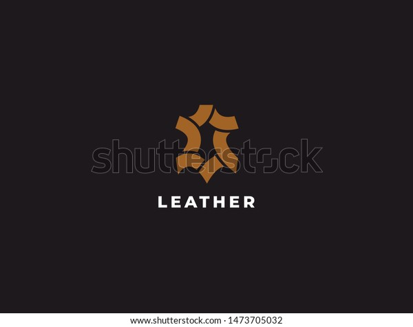 premium creative leather logo design genuine stock vector royalty free 1473705032 https www shutterstock com image vector premium creative leather logo design genuine 1473705032
