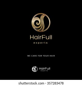 PREMIUM DESIGN, UNIQUE VECTOR LOGO FOR HAIR COMPANY OR PROFESSIONAL