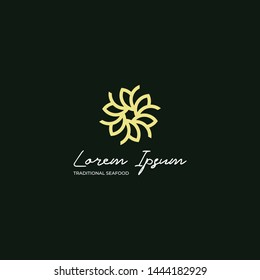 Premium Flowers Luxury Simple Logo Template
