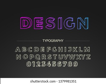 Premium Font Alphabet and numbers. With 3D design