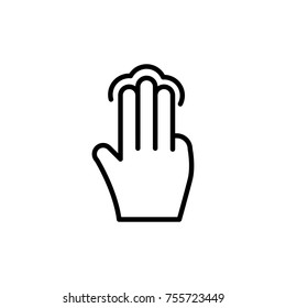 Premium gesture icon or logo in line style. High quality sign and symbol on a white background. Vector outline pictogram for infographic, web design and app development.