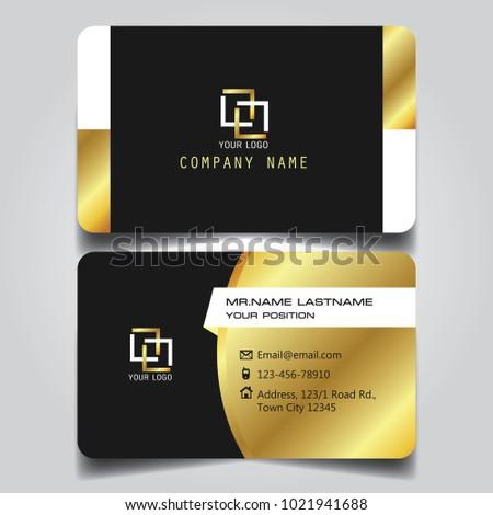 Premium Gold Black White Name Card Stock Vector Royalty Free