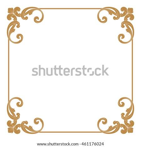 Vintage frame border Circular Premium Gold Vintage Baroque Ornament Frame Border Borders Vector Vintage Frame Vector Shutterstock Premium Gold Vintage Baroque Ornament Frame Stock Vector royalty