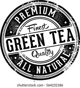 Premium Green Tea Vintage Label