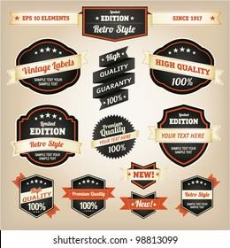 Premium and High Quality Labels vintage design