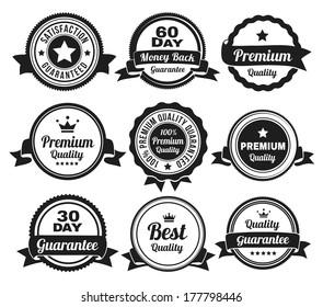 Premium high quality money back guarantee badges.
