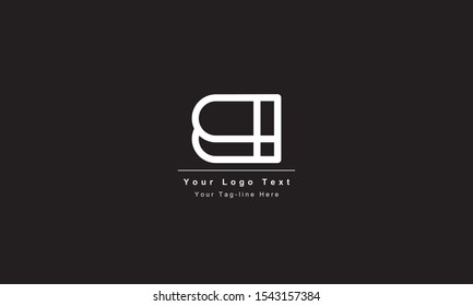 Premium Initial Letter BI logo design. Trendy awesome artistic black and white color BI IB initial based Alphabet icon logo