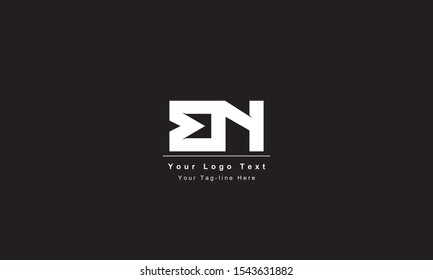 Premium Initial Letter BN logo design. Trendy awesome artistic black and white color BN NB initial based Alphabet icon logo