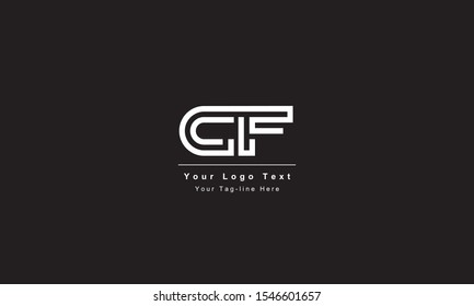 Premium Initial Letter CF logo design. Trendy awesome artistic black and white color CF FC initial based Alphabet icon logo