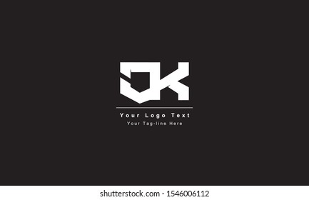 Premium Initial Letter CK logo design. Trendy awesome artistic black and white color CK KC initial based Alphabet icon logo