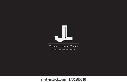 Premium Initial Letter JL logo design. Trendy awesome artistic black and white color JL LJ initial based Alphabet icon logo